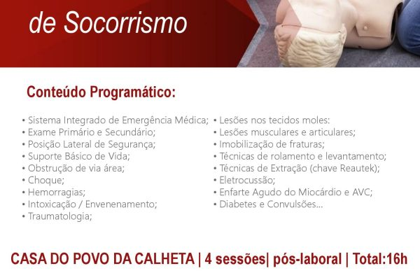 CURSO DE SOCORRISMO – CALHETA | AMI