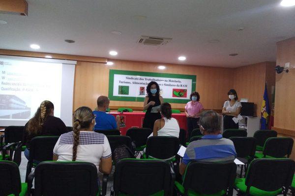 SESSÃO DE INFORMAÇÃO CQEP NO SINDICATO DE HOTELARIA