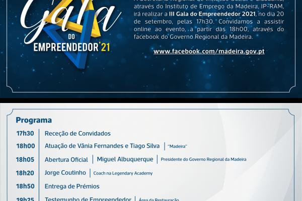 IIIª GALA DO EMPREENDEDOR'21 | ONLINE